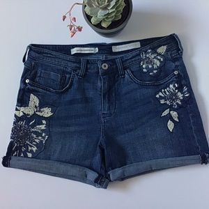 Pilcro and the Letterpress Slim Boyfriend Shorts